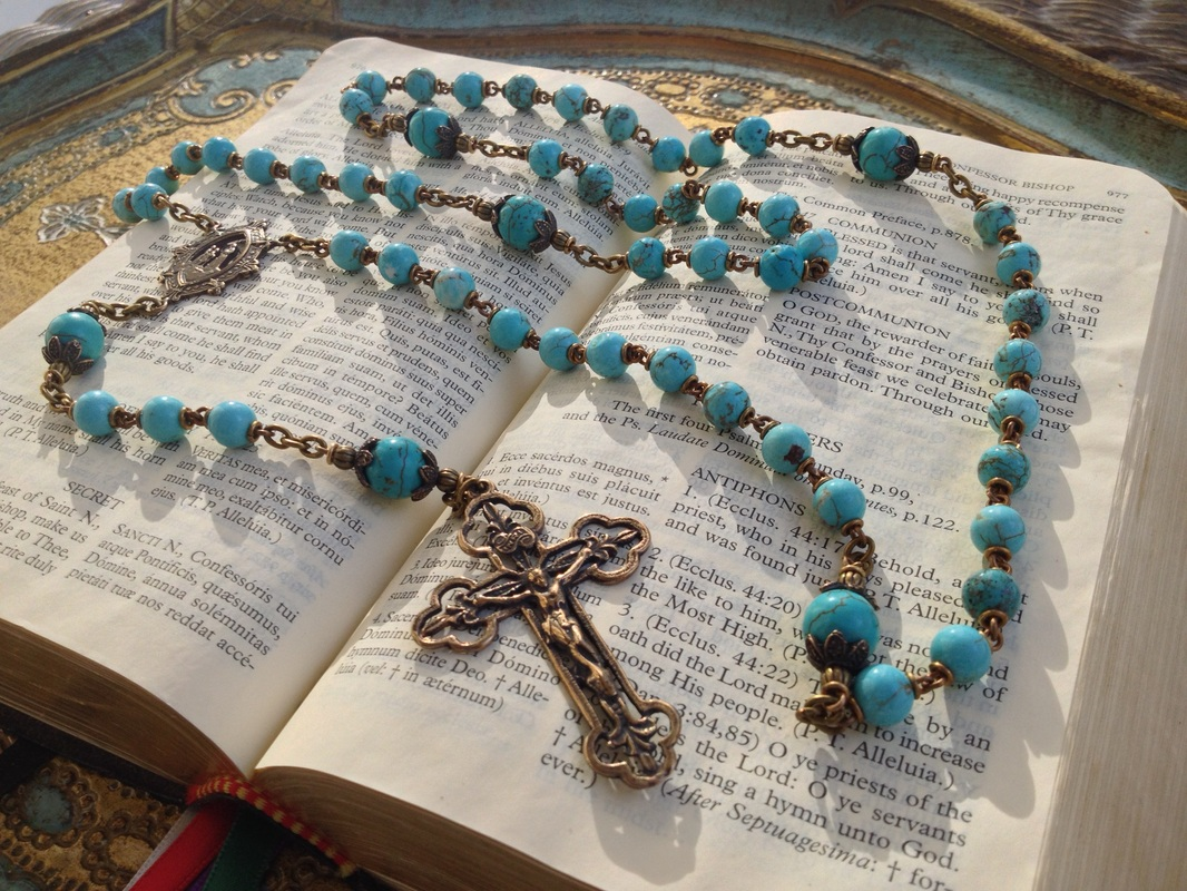 Turquoise Heirloom Rosary