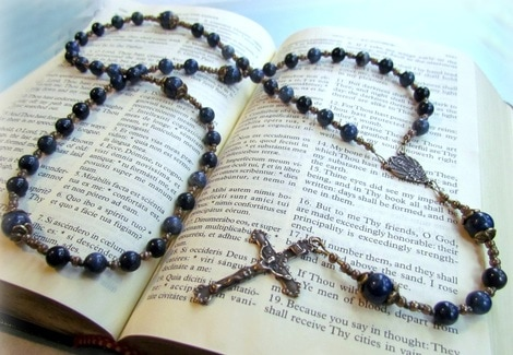 Blue First Communion Rosary